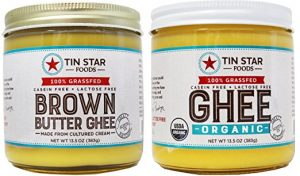 Tin Star Foods 100% Grass Fed Brown Butter and Organic Ghee